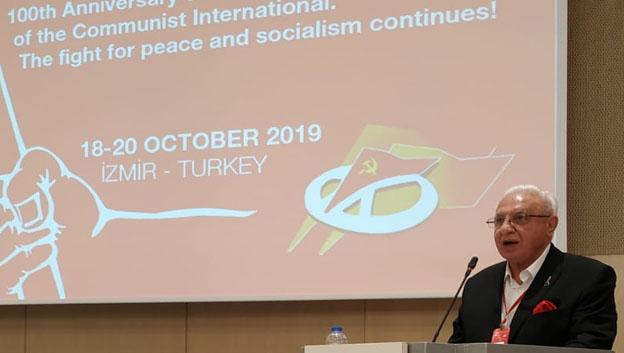 القاء كلمة الحزب الشيوعي العراقي خلال اعمال اللقاء الأممي للأحزاب الشيوعية والعمالية الحادي والعشرين.