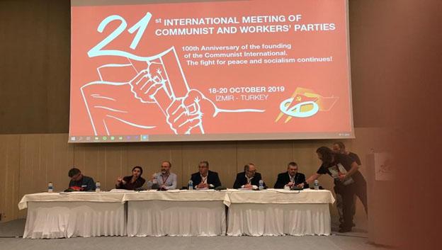 افتتاح اللقاء الأممي للأحزاب الشيوعية والعمالية ال ٢١: تضامن الشيوعيين من اجل عالم أفضل